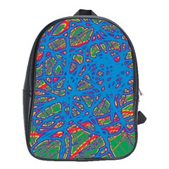 Colorful neon chaos School Bags (XL)