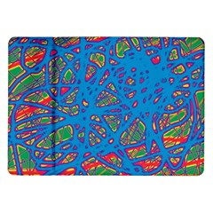 Colorful neon chaos Samsung Galaxy Tab 10.1  P7500 Flip Case