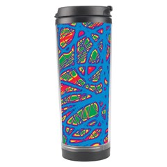 Colorful neon chaos Travel Tumbler