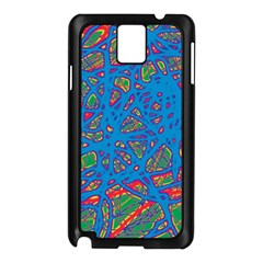 Colorful neon chaos Samsung Galaxy Note 3 N9005 Case (Black)