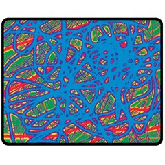 Colorful neon chaos Double Sided Fleece Blanket (Medium)