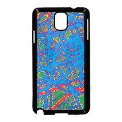 Colorful neon chaos Samsung Galaxy Note 3 Neo Hardshell Case (Black)