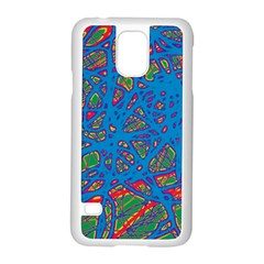 Colorful neon chaos Samsung Galaxy S5 Case (White)