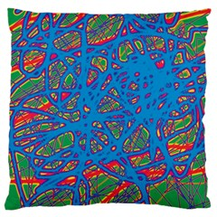 Colorful neon chaos Standard Flano Cushion Case (Two Sides)
