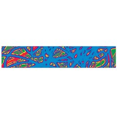 Colorful neon chaos Flano Scarf (Large)