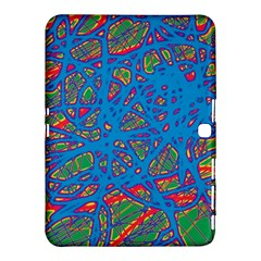 Colorful neon chaos Samsung Galaxy Tab 4 (10.1 ) Hardshell Case