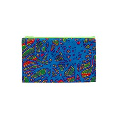 Colorful neon chaos Cosmetic Bag (XS)