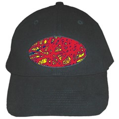 Yellow and red neon design Black Cap