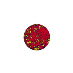 Yellow and red neon design 1  Mini Buttons