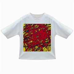 Yellow and red neon design Infant/Toddler T-Shirts