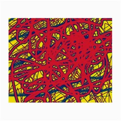 Yellow and red neon design Small Glasses Cloth