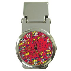 Yellow and red neon design Money Clip Watches