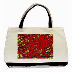 Yellow and red neon design Basic Tote Bag (Two Sides)