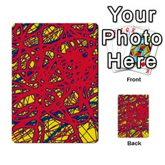 Yellow and red neon design Multi-purpose Cards (Rectangle)