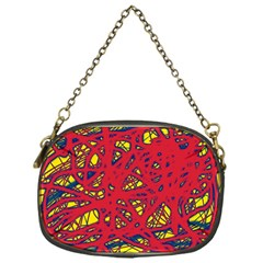 Yellow and red neon design Chain Purses (One Side)