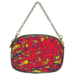 Yellow and red neon design Chain Purses (Two Sides)