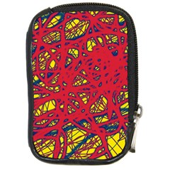 Yellow and red neon design Compact Camera Cases
