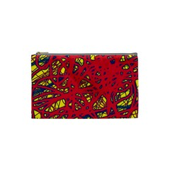 Yellow and red neon design Cosmetic Bag (Small)