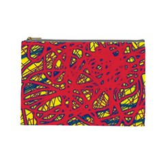 Yellow and red neon design Cosmetic Bag (Large)