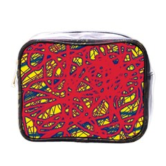 Yellow and red neon design Mini Toiletries Bags