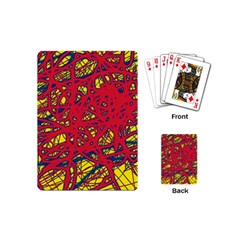 Yellow and red neon design Playing Cards (Mini)