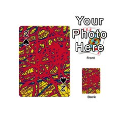 Yellow and red neon design Playing Cards 54 (Mini)