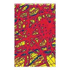 Yellow and red neon design Shower Curtain 48  x 72  (Small)