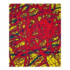 Yellow and red neon design Shower Curtain 60  x 72  (Medium)