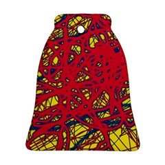 Yellow and red neon design Ornament (Bell)
