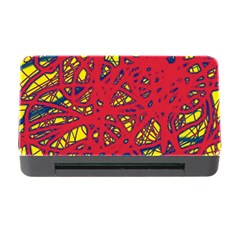 Yellow and red neon design Memory Card Reader with CF