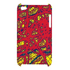 Yellow and red neon design Apple iPod Touch 4