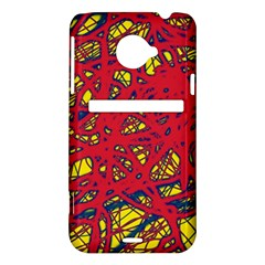 Yellow and red neon design HTC Evo 4G LTE Hardshell Case