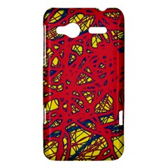 Yellow and red neon design HTC Radar Hardshell Case
