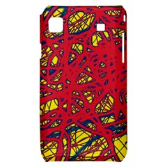 Yellow and red neon design Samsung Galaxy S i9000 Hardshell Case