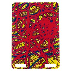 Yellow and red neon design Kindle Touch 3G