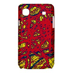 Yellow and red neon design Samsung Galaxy SL i9003 Hardshell Case