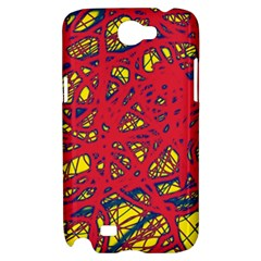 Yellow and red neon design Samsung Galaxy Note 2 Hardshell Case