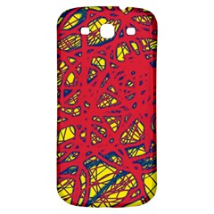 Yellow and red neon design Samsung Galaxy S3 S III Classic Hardshell Back Case