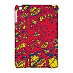 Yellow and red neon design Apple iPad Mini Hardshell Case (Compatible with Smart Cover)