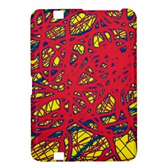 Yellow and red neon design Kindle Fire HD 8.9