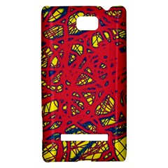 Yellow and red neon design HTC 8S Hardshell Case