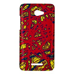 Yellow and red neon design HTC Butterfly X920E Hardshell Case