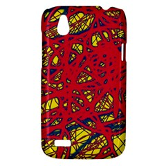 Yellow and red neon design HTC Desire V (T328W) Hardshell Case