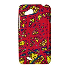 Yellow and red neon design HTC Desire VC (T328D) Hardshell Case