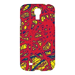 Yellow and red neon design Samsung Galaxy S4 I9500/I9505 Hardshell Case