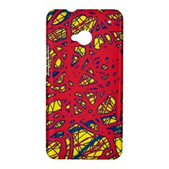Yellow and red neon design HTC One M7 Hardshell Case