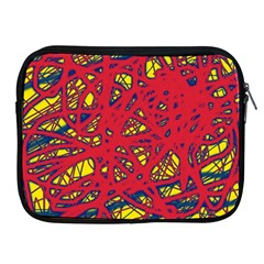 Yellow and red neon design Apple iPad 2/3/4 Zipper Cases