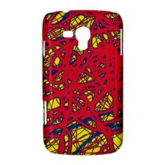 Yellow and red neon design Samsung Galaxy Duos I8262 Hardshell Case
