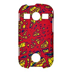 Yellow and red neon design Samsung Galaxy S7710 Xcover 2 Hardshell Case