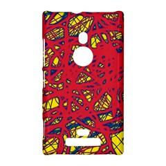 Yellow and red neon design Nokia Lumia 925